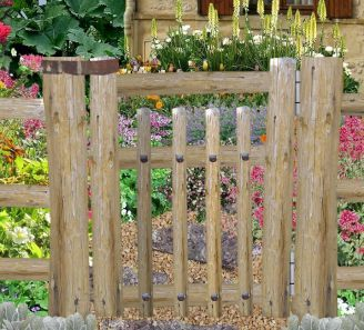 Portillon En Bois Flottes Decoration Jardin Jardins Deco Jardin