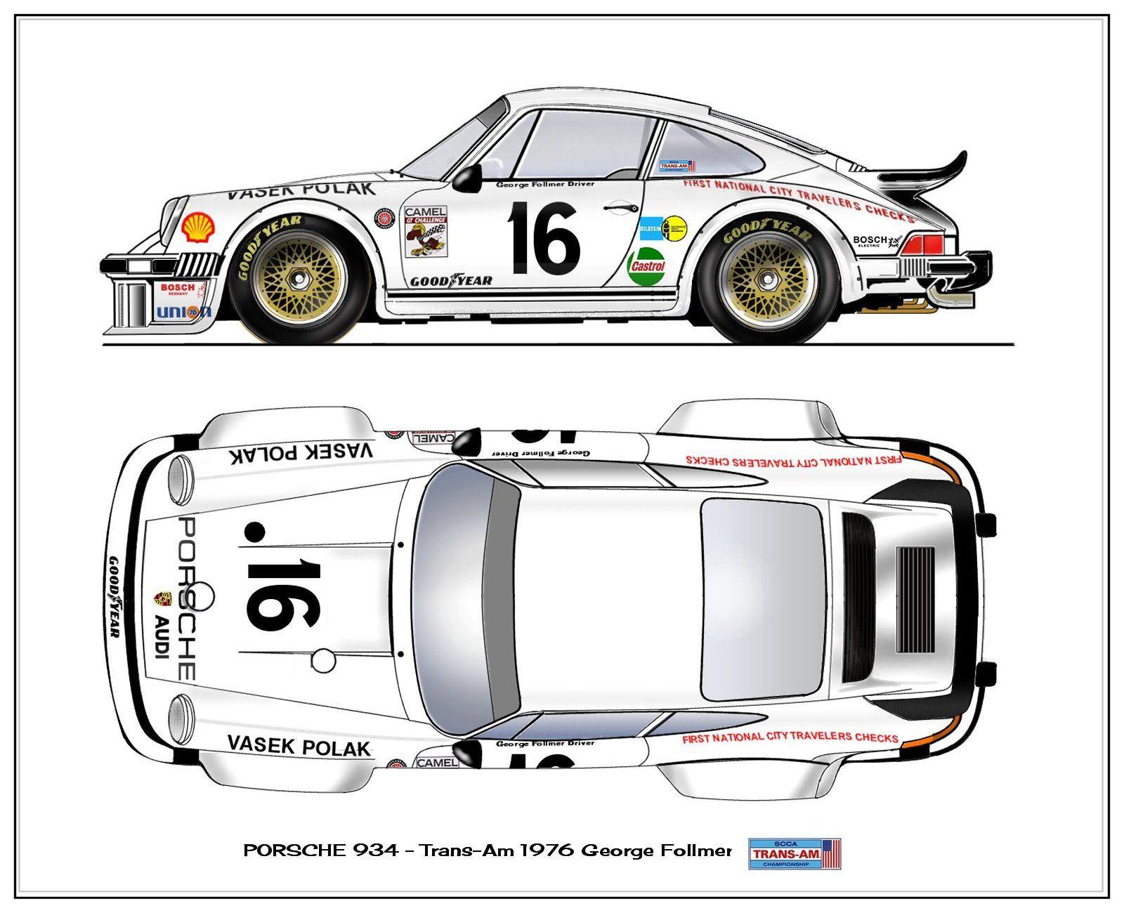 Porsche 934   vasek polak racing   Pinterest   Porsche, Malen und ...