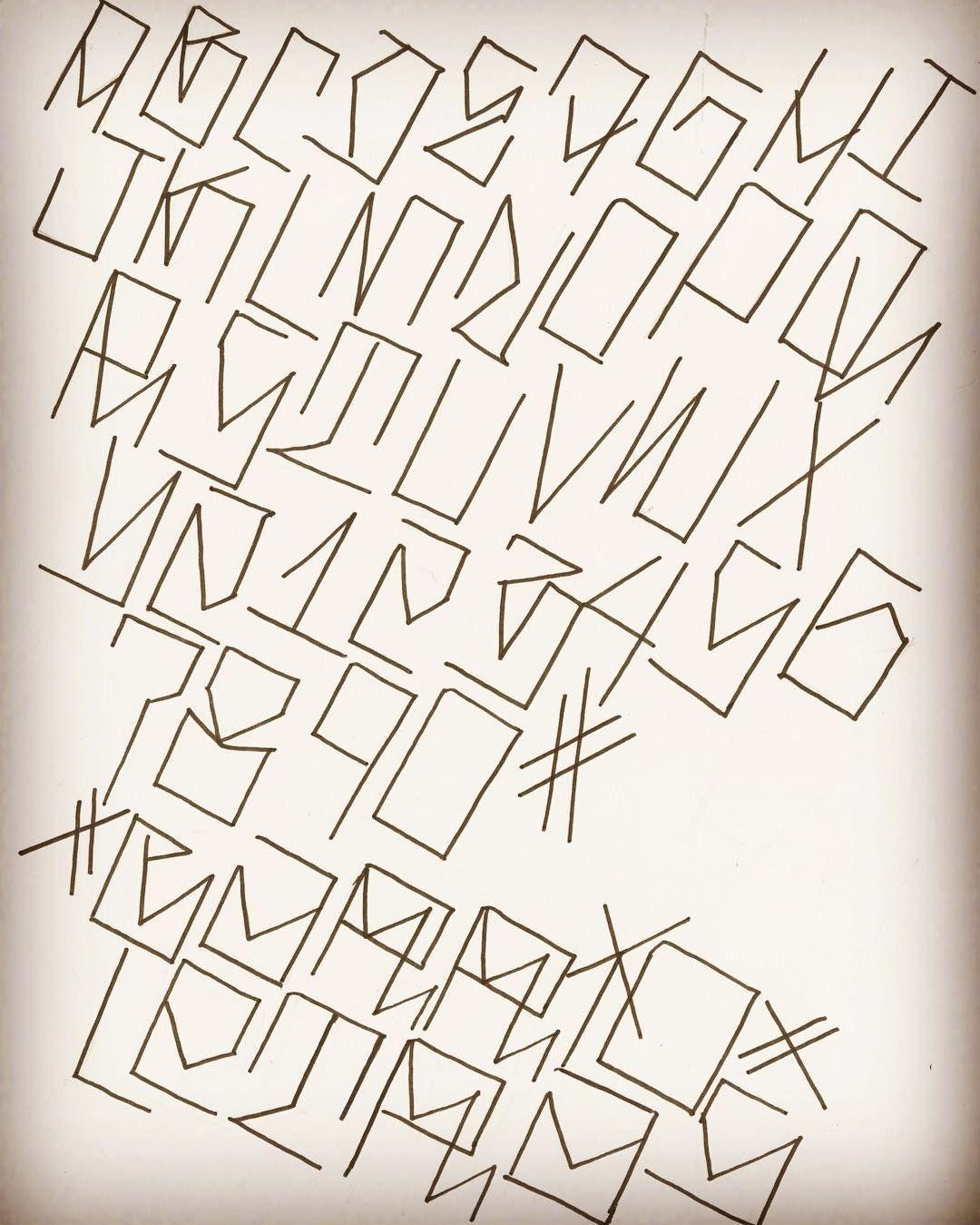 ALPHABET... #letterstoliveby #bigsleeps #handstyles