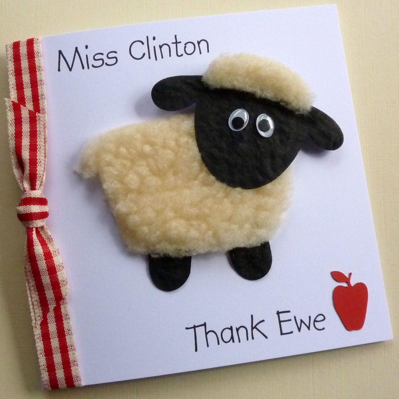 Handmade Personalised Sheep Thank Ewe Teachers Thank You End Of