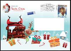 Lettera da Santa Claus - Tutte le lettere e le cartoline vengono timbrate a mano dagli Elfi con il timbro speciale dell'ufficio postale di Babbo Natale.