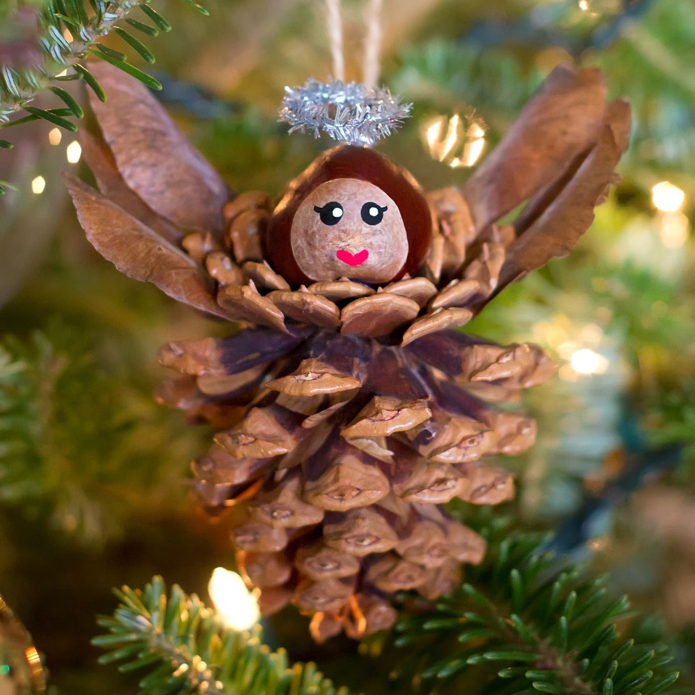 How To Make Pine Cone Angels Ornaments For Kids Recipe Pine Cone Crafts Christmas Decor Diy Christmas Crafts