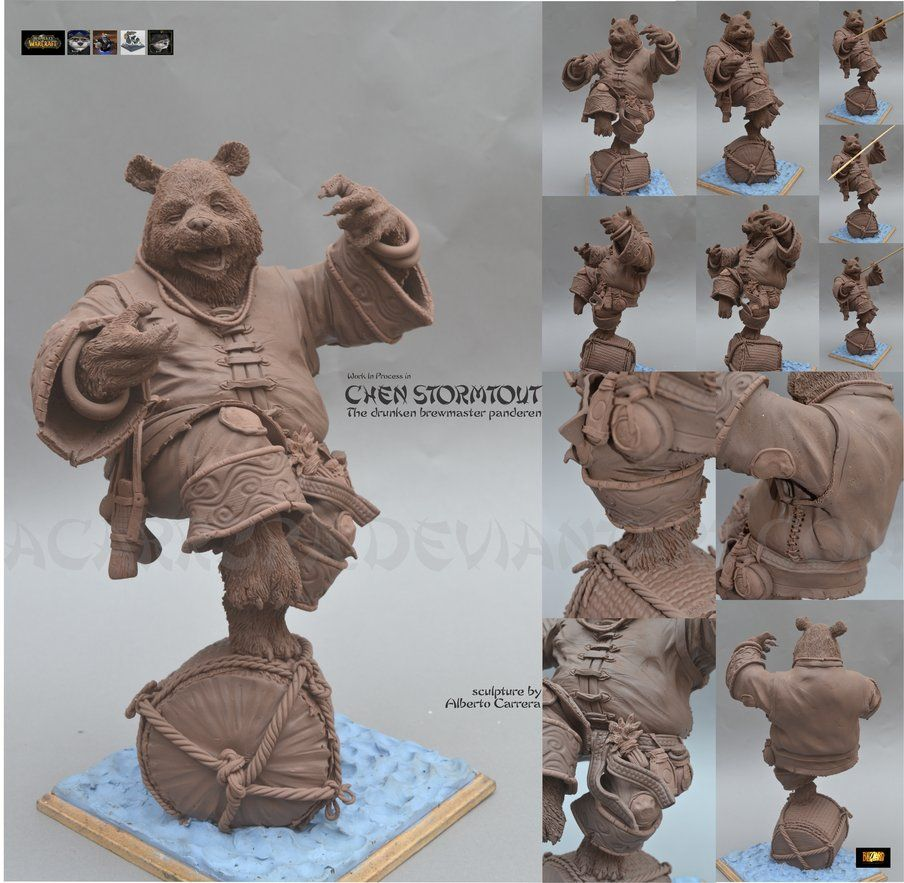 Chen Stormtout figure WIP by ACarr3ra on deviantART