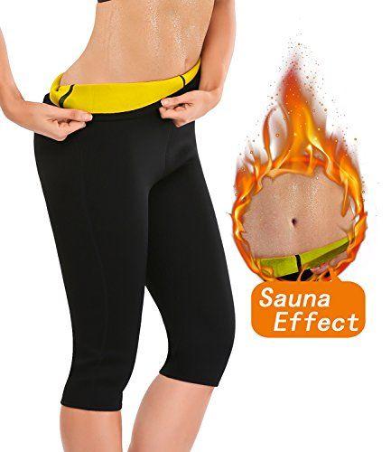gofanmu Legging minceur Noir Pantalon minceur gainant perte de poids yoga  sudation et sauna en pour 8bf83b5ac6f