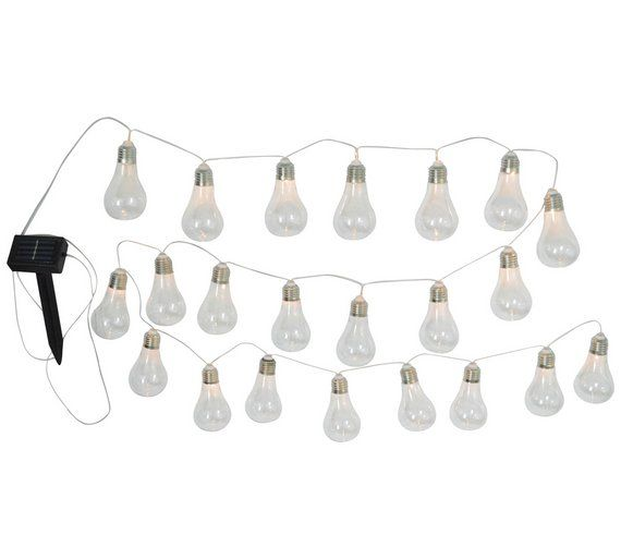 Buy HOME Solar Powered Bulb String Lights