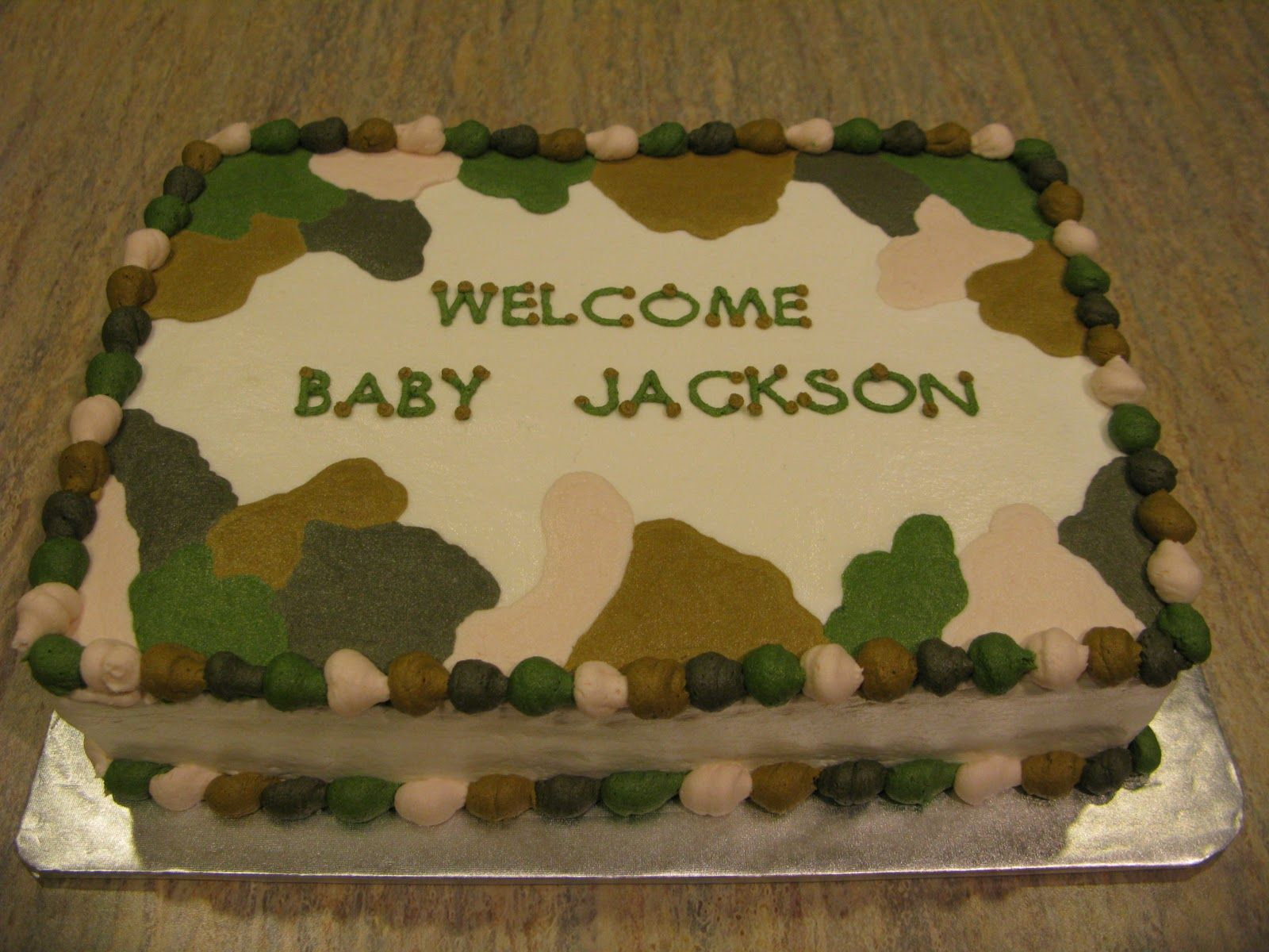 Camo Baby Shower Cakes For Boys Posted By Andrea Williams At 649