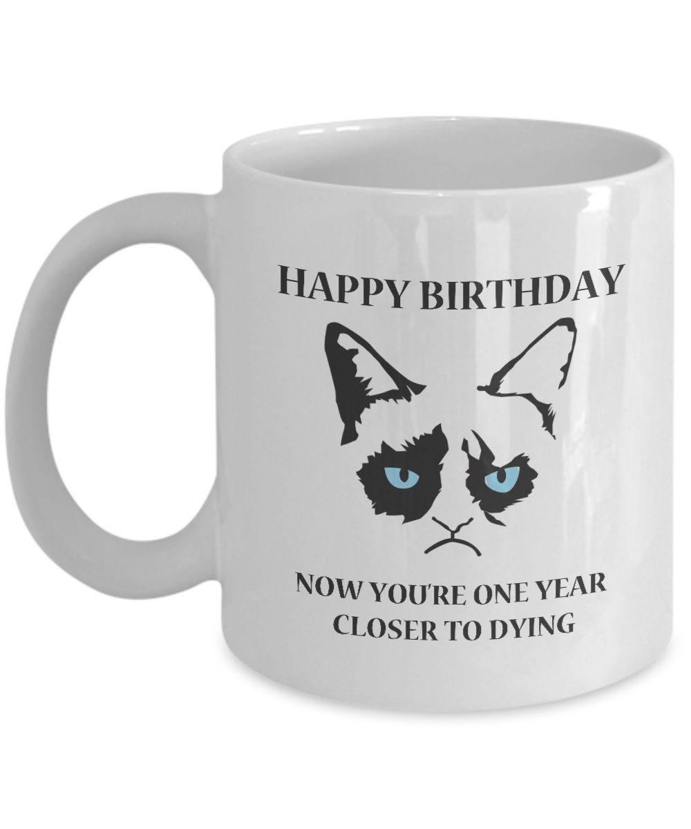 Grumpy Cat Mug Grumpy Cat Gifts Happy Birthday Grumpy Cat
