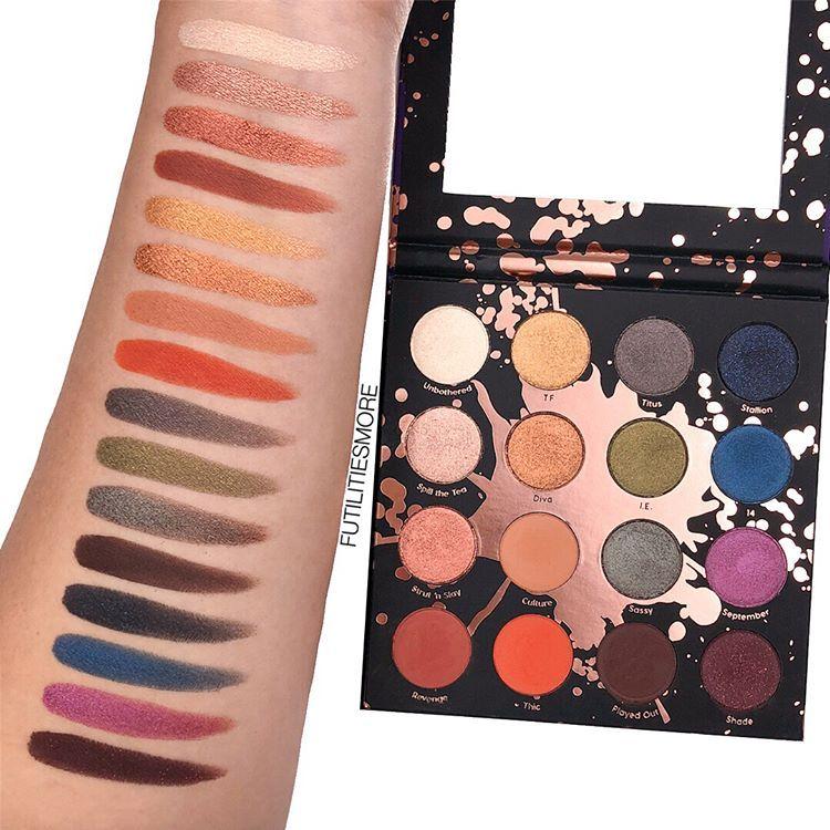 Swatches Colourpopcosmetics X Makeupshayla Perception Palette
