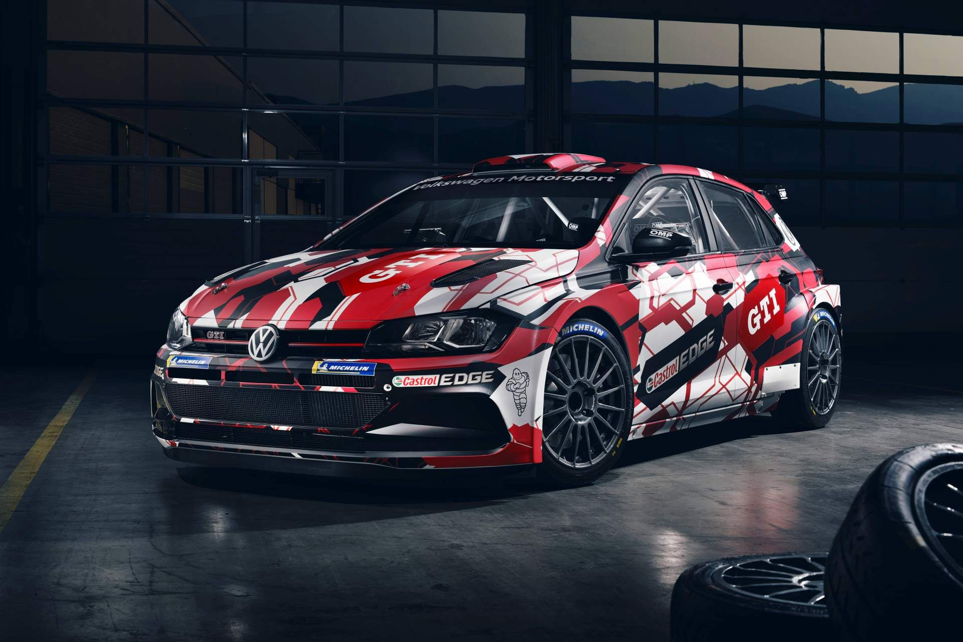 Vw Polo Gti R5 Looks Fast Standing Still Thanks To New Livery Volkswagen Polo Vw Polo Volkswagen