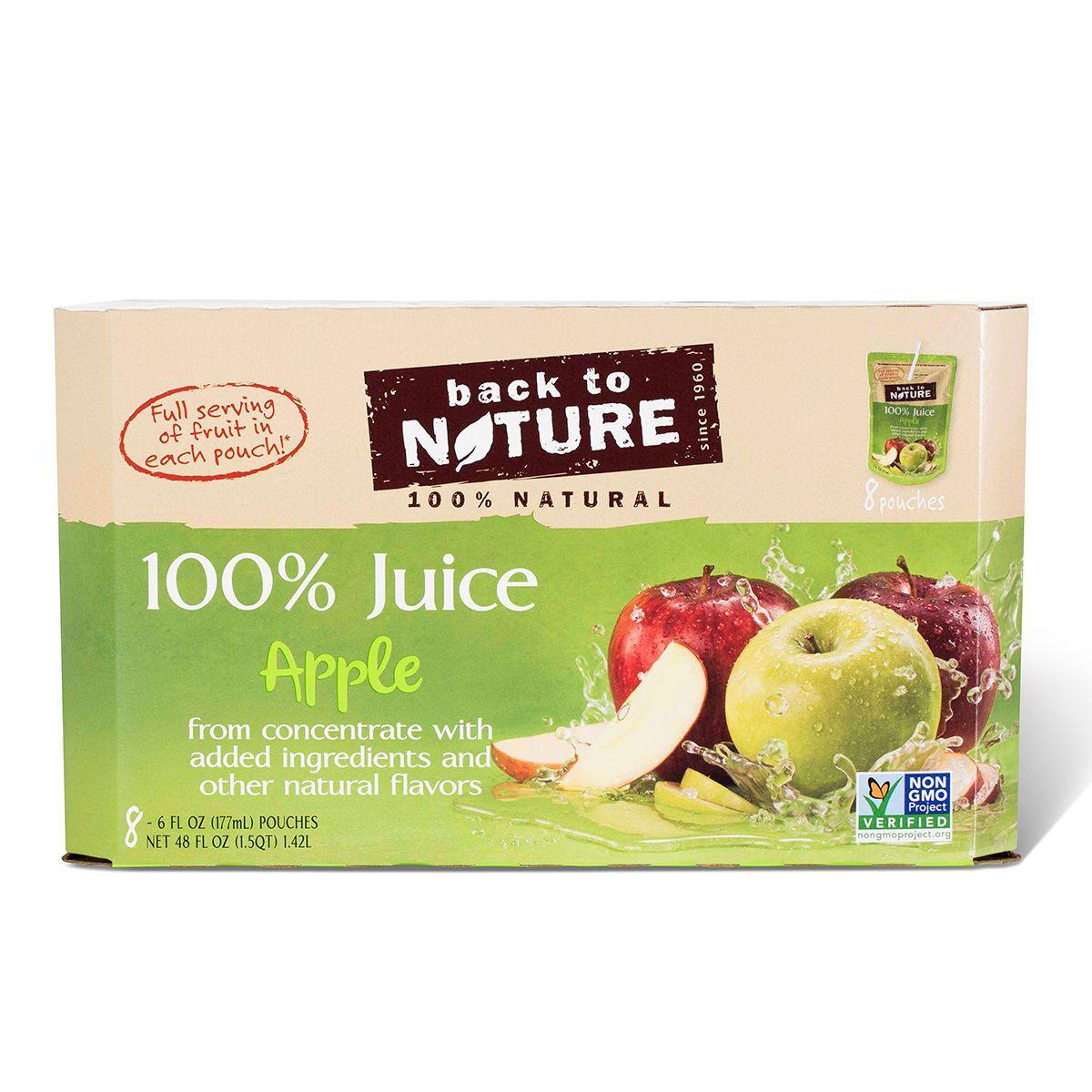Back to Nature 100 Juice Apple Tasty ingredients