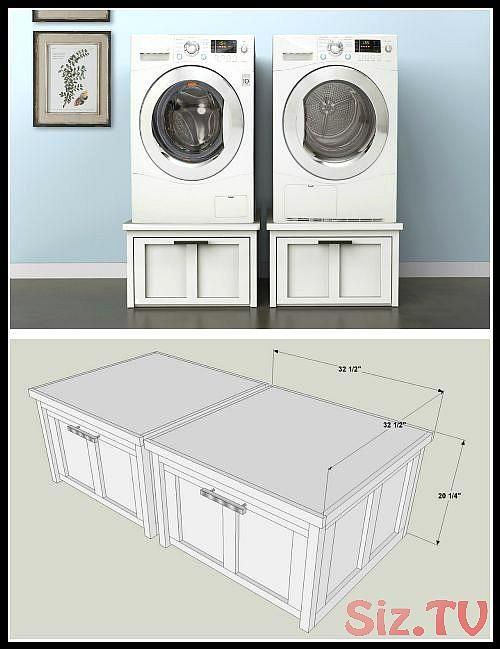 Diy Washer And Dryer Pedestals With Storage Drawers Find The Free Plans For This Project And Many Other Waschkuchenorganisation Waschesockel Waschkuchendesign