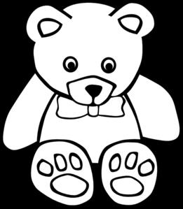 Teddy Bear Outline Clip Art Vector Clip Art Online Royalty Free Public Domain Teddy Bear Coloring Pages Bear Coloring Pages Teddy Bear Outline