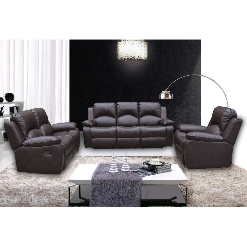 Peachy 5 Seater Sofa Set Brown Faux Leather Foam Recliner Seat Forskolin Free Trial Chair Design Images Forskolin Free Trialorg