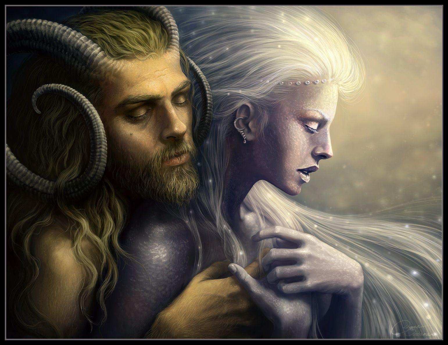 Pan Selene Greek Mythology Créatures Projet Perso