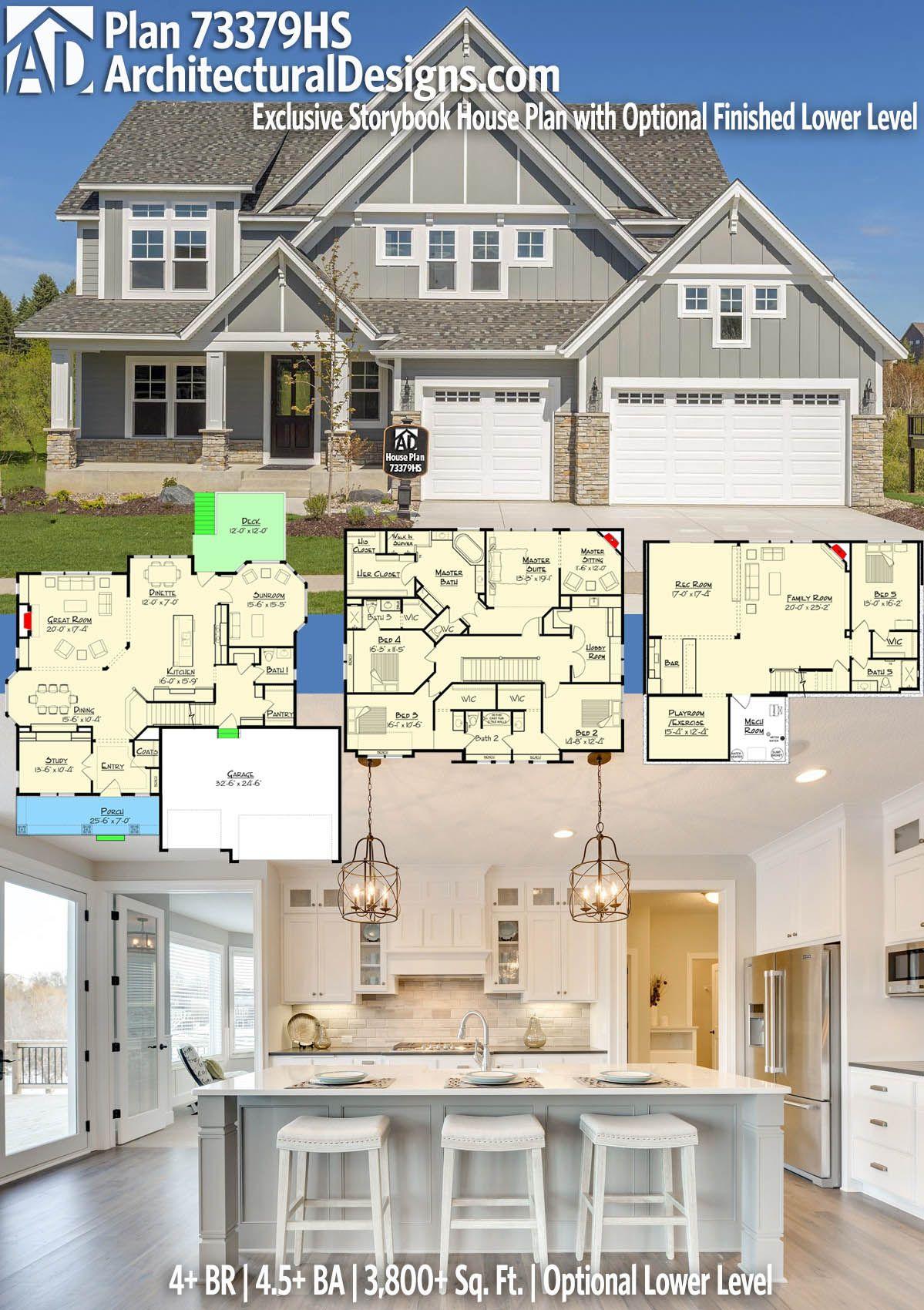 Architectural Designs Exclusive House Plan 73379HS has