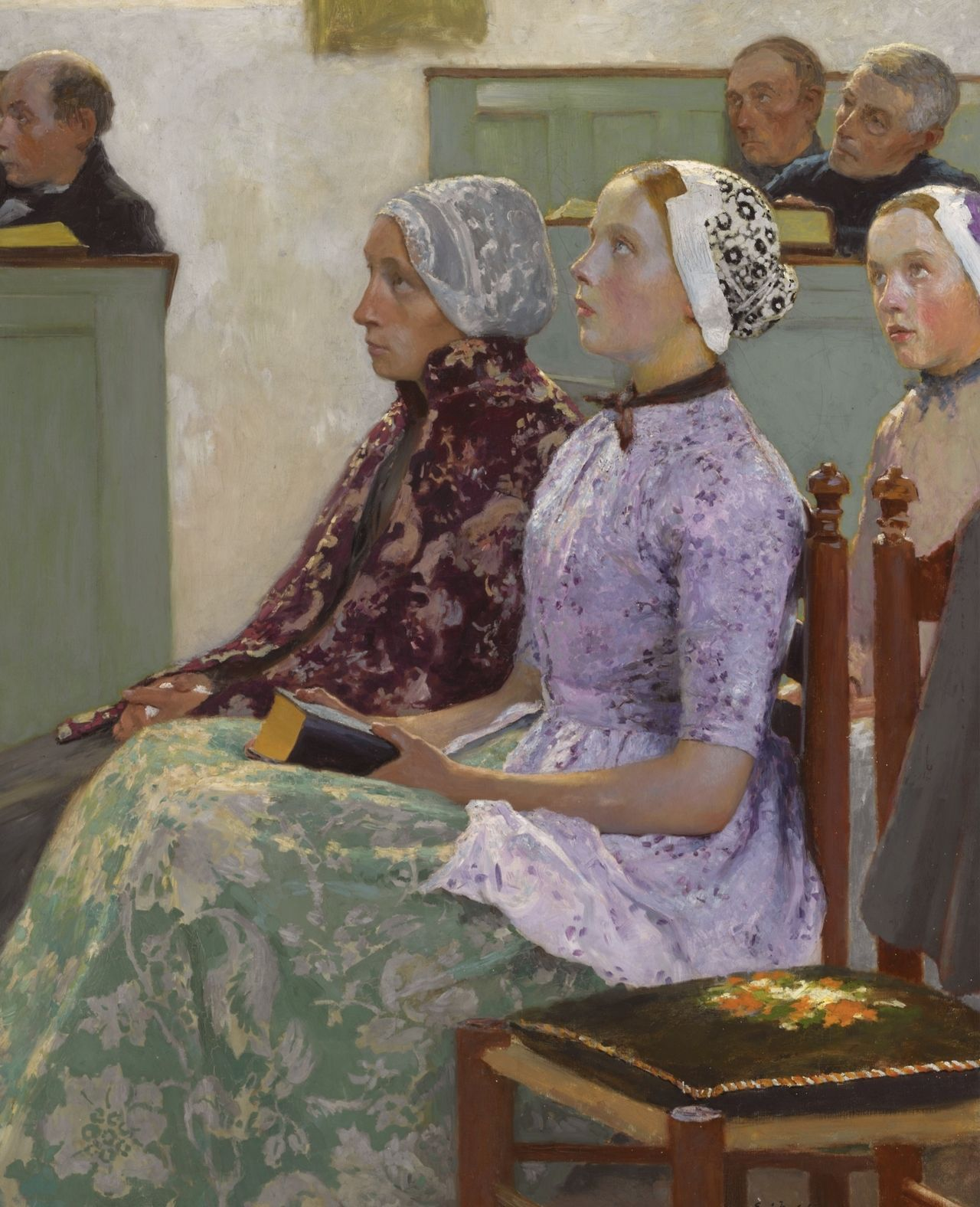 Sunday Mass (c.1886). Gari Melchers (American, 1860-1932). Oil on canvas.