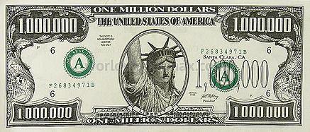 Usa 1 Million Dollar 1998 Banknote Worldmoneymax Com One