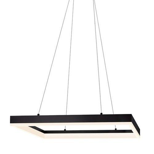 Corona 23 inch square led pendant light sonneman pendant lights ylighting