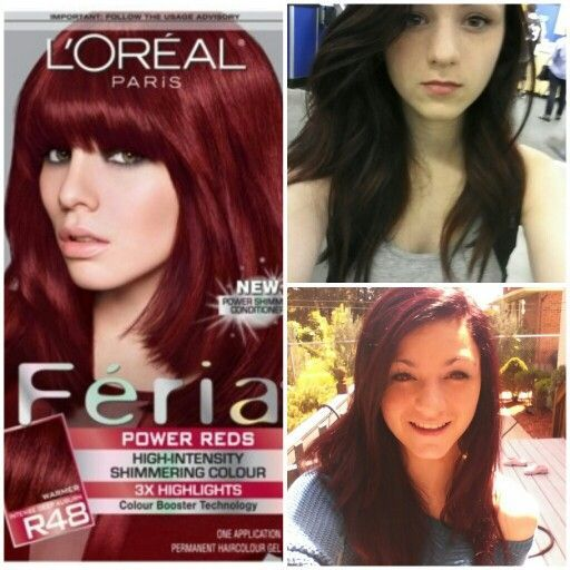 L OrÉal Feria Reds High Intensity Shimmering Colour Cherry Crush R48 Or R57