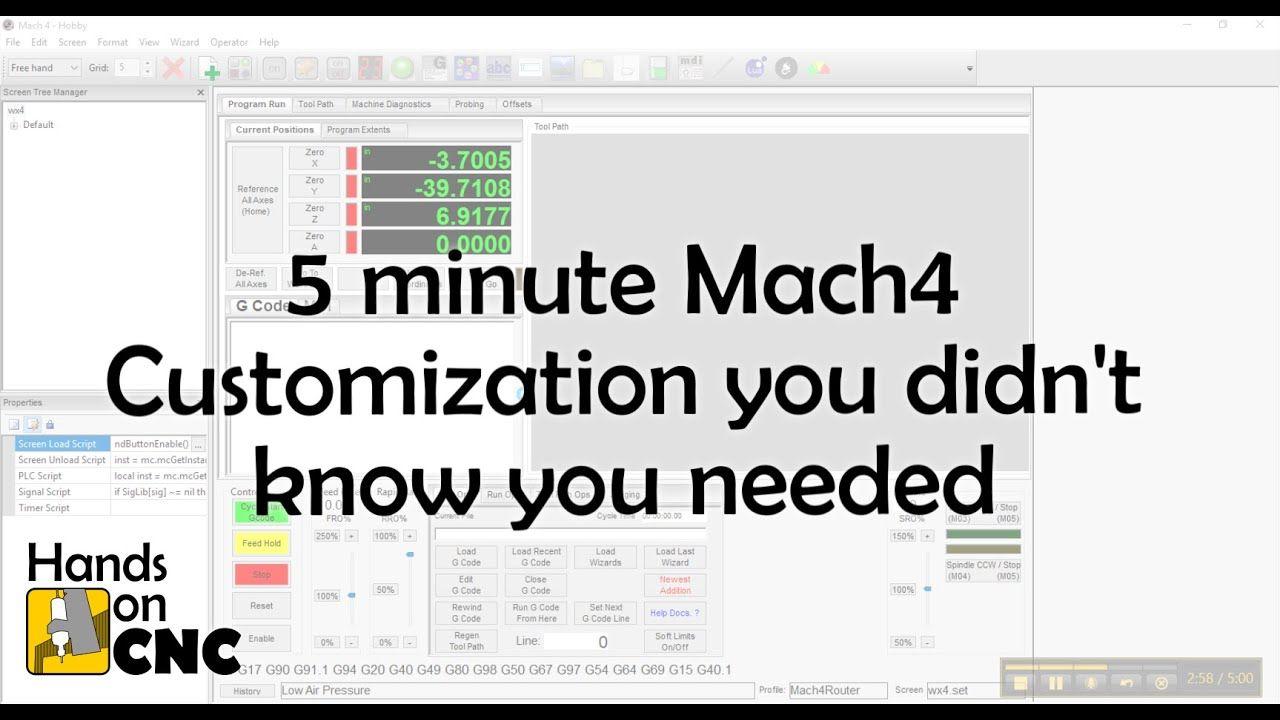 Mach4 5 Minute Tutorial: Integrate custom sensors/inputs