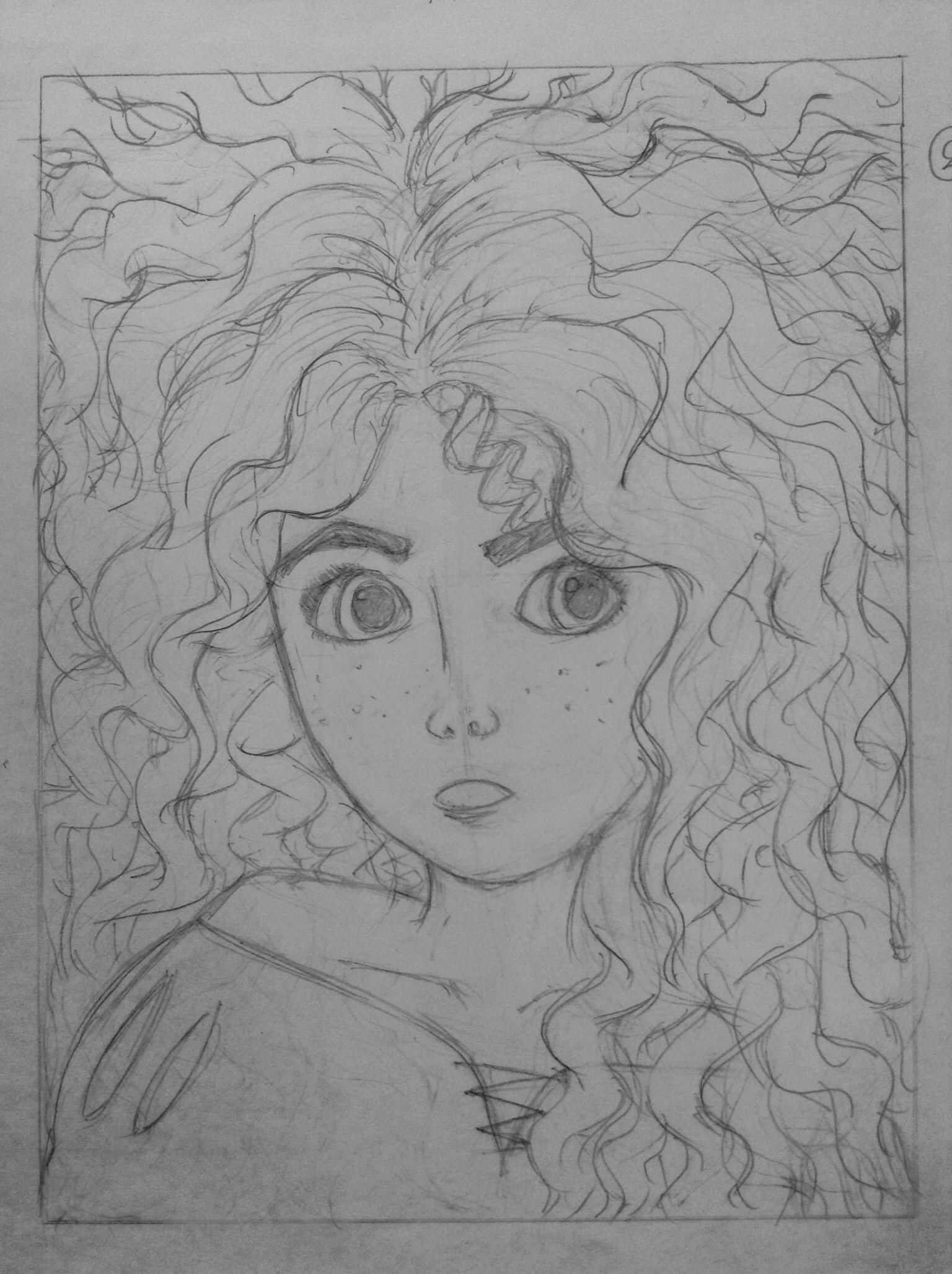 Drawings Merida from Brave
