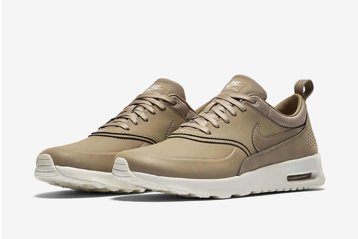 nike air max thea premium brown\/white capsule