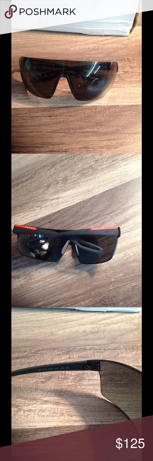 01441611f2a52 Prada full frame sunglasses authentic PRADA LINEA ROSSA - SPS 01Q SPORT  SHIELD MATTE BLACK SUNGLASSES MIRRORED VISOR in new condition Prada Linea  Rossa ...