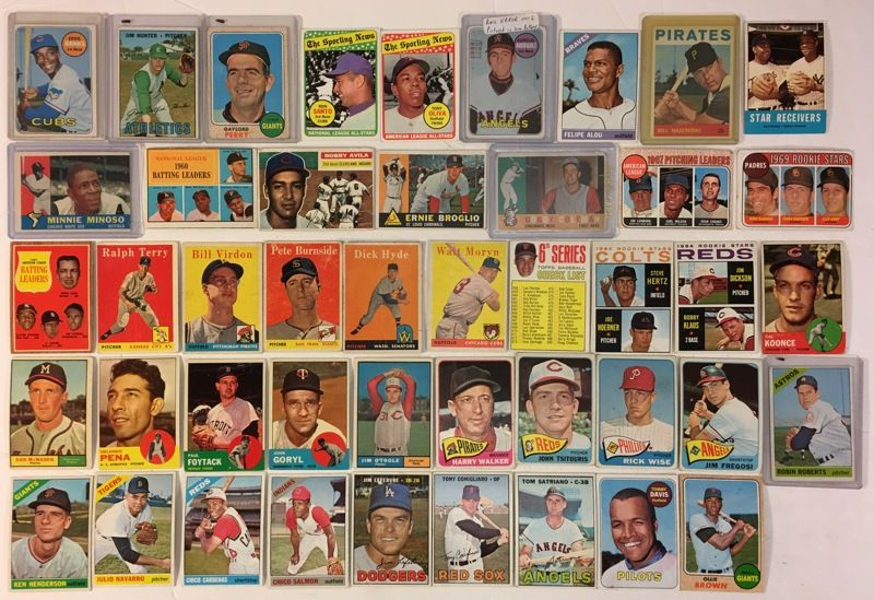 45 vintage 1950s and 1960s topps baseball cards rookies