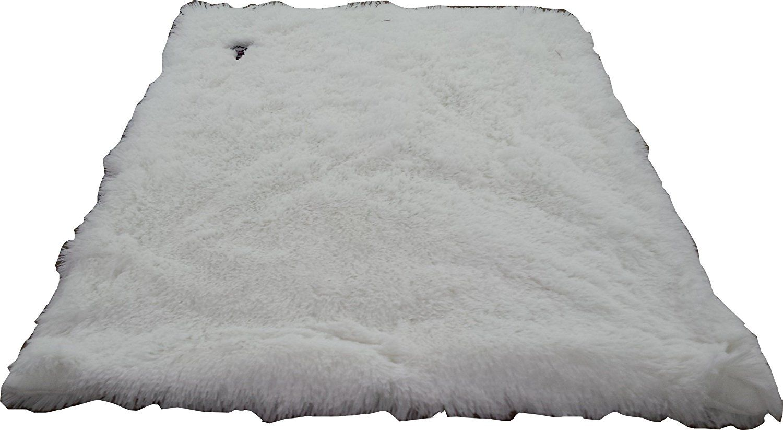 BESSIE AND BARNIE Pet Blanket, Large, Snow White/Snow