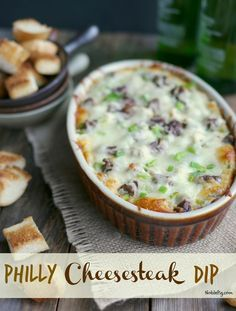 Game day or any day, this Philly Cheesesteak Dip will be the hit of the party