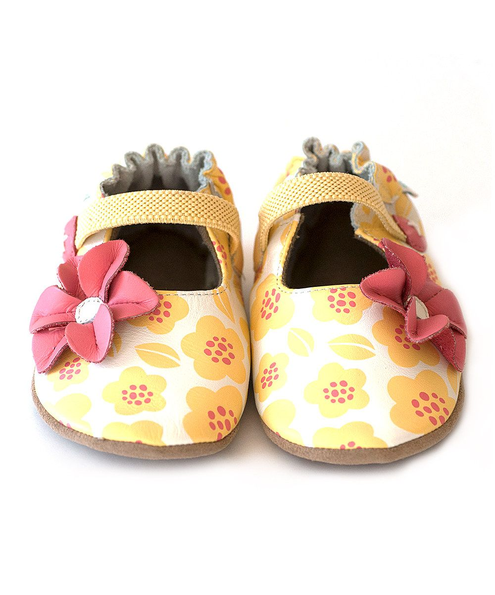 SUNNY Store Adorables Girls Flower Ballet Flats Shoes Soft PU Leather Mary Janes