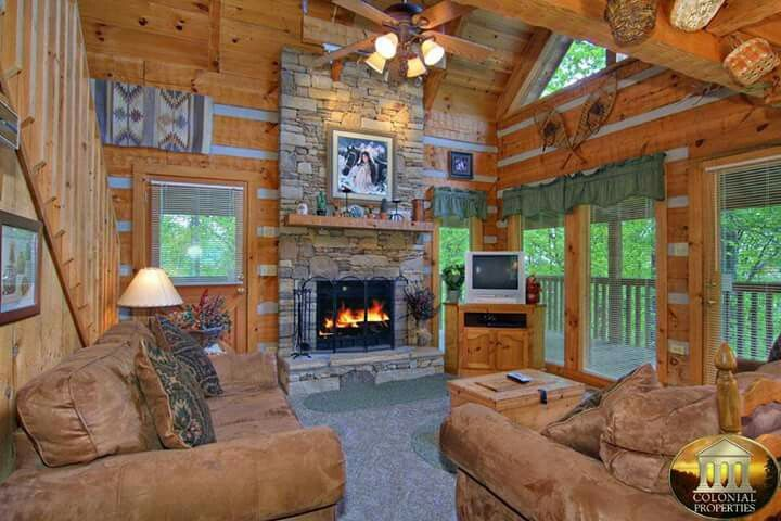 Family Room Smoky Mountains Cabins Wears Valley Cabin Rentals Honeymoon Cabin