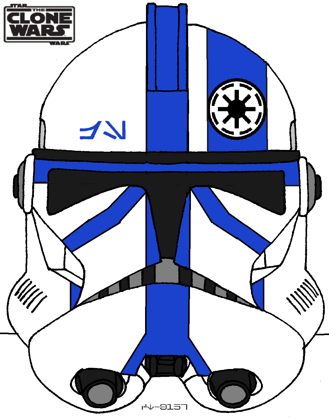 Phase Two Standard Clone Helmet 501st Legion Star Wars Art Star Wars Artwork Star Wars Helmet