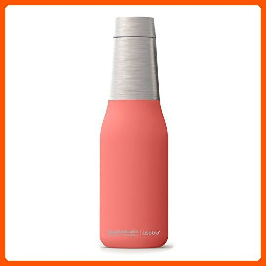 ddcfbaf6d4 The Asobu Oasis Vacuum Insulated Double Walled 20oz Water Bottle (Peach) -  Little daily helpers (*Amazon Partner-Link)