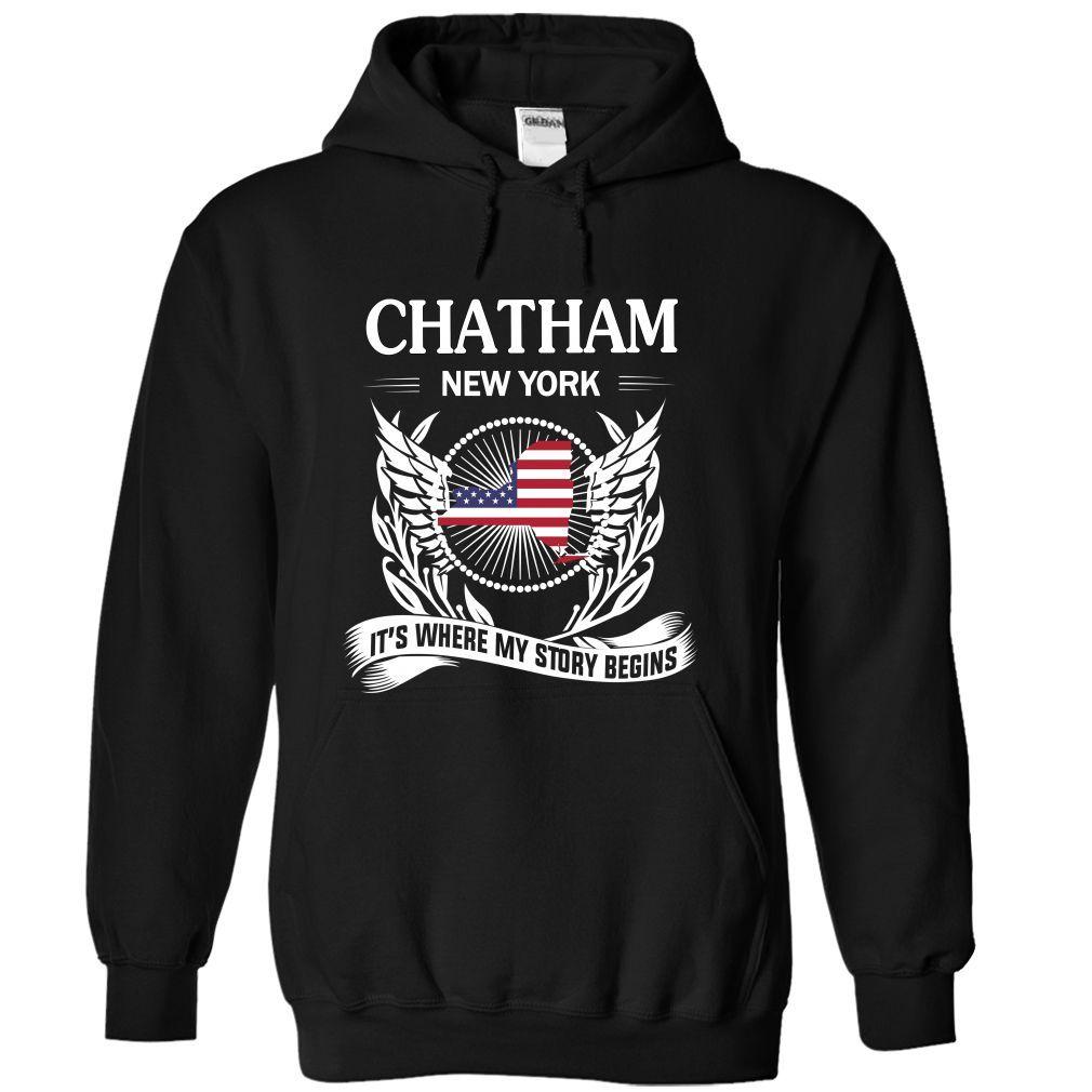 (Tshirt Amazing T-Shirt) CHATHAM- Its where my story begins Tshirt-Online Hoodies Tees Shirts