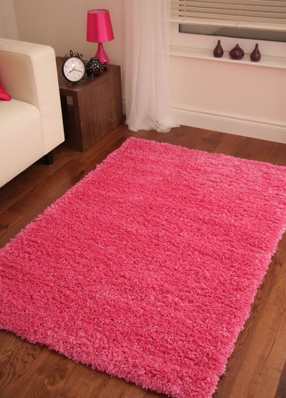 Details about Bright Pink Modern Rugs Fuschia Large Cool ...