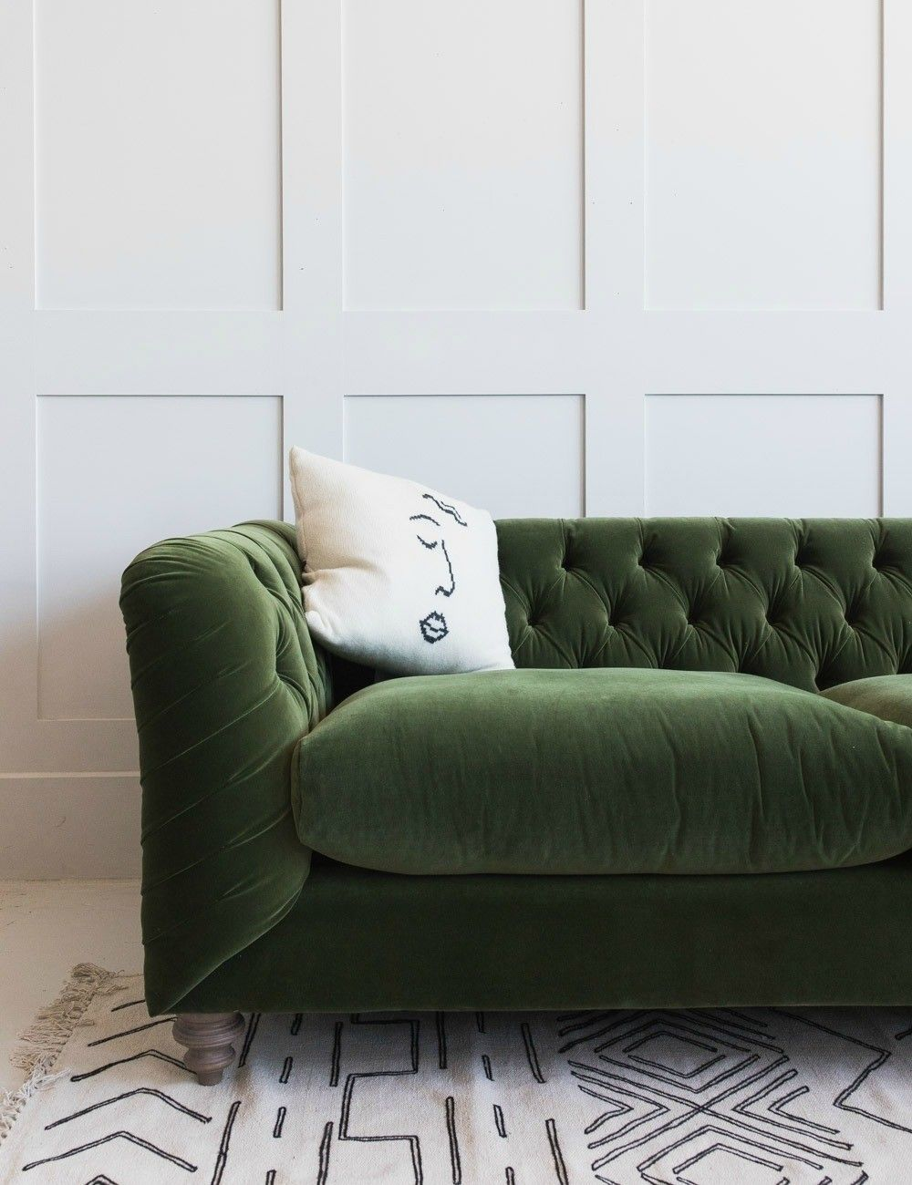 887d5568614d Hugo Chesterfield Sofa - Three sizes available in Velvet, Linen or Brushed  Cotton