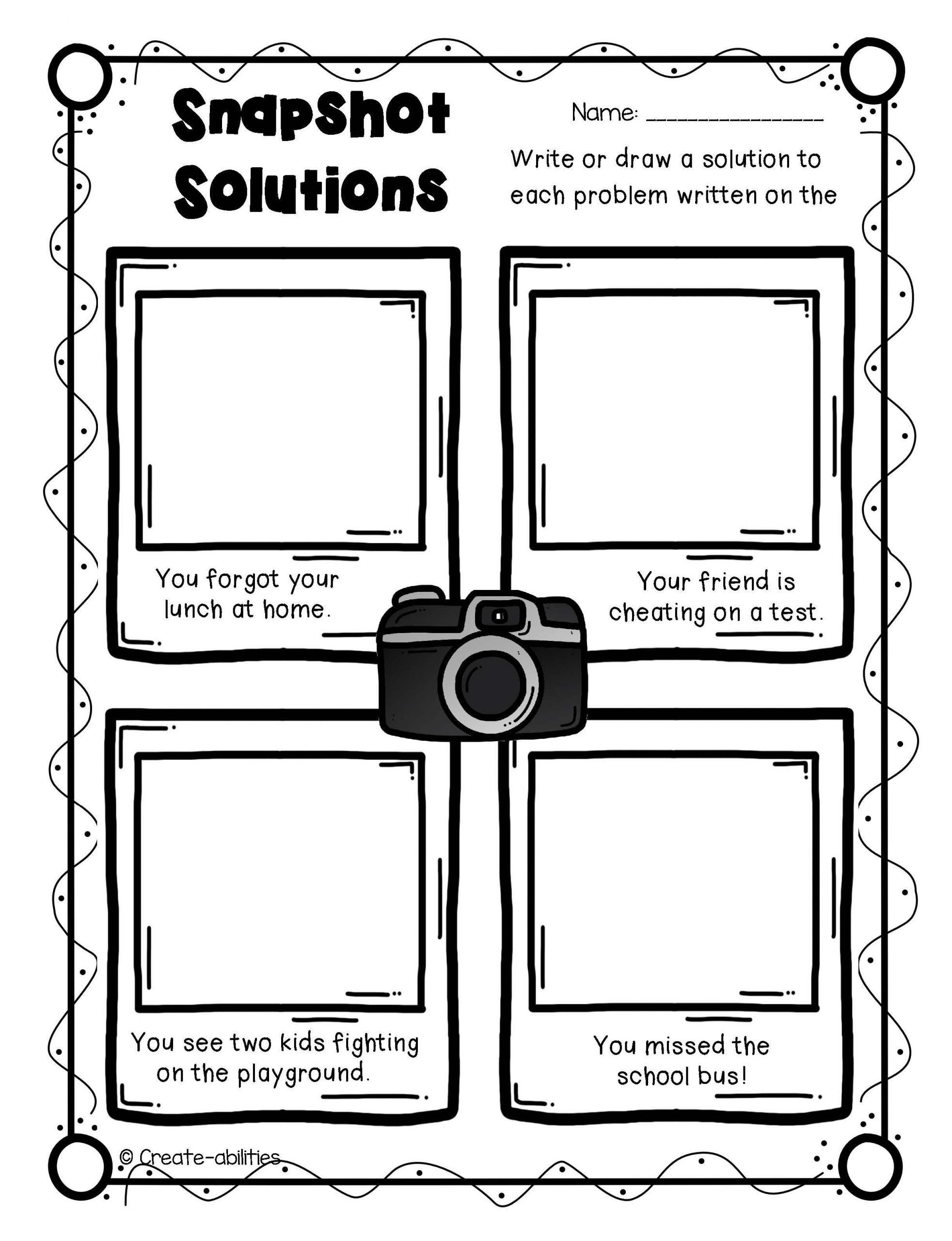 Problem And Solution Worksheet Problem And Solution