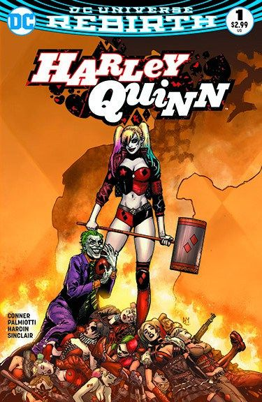 harley quinn (dc comics and 2 more) drawn by uiui