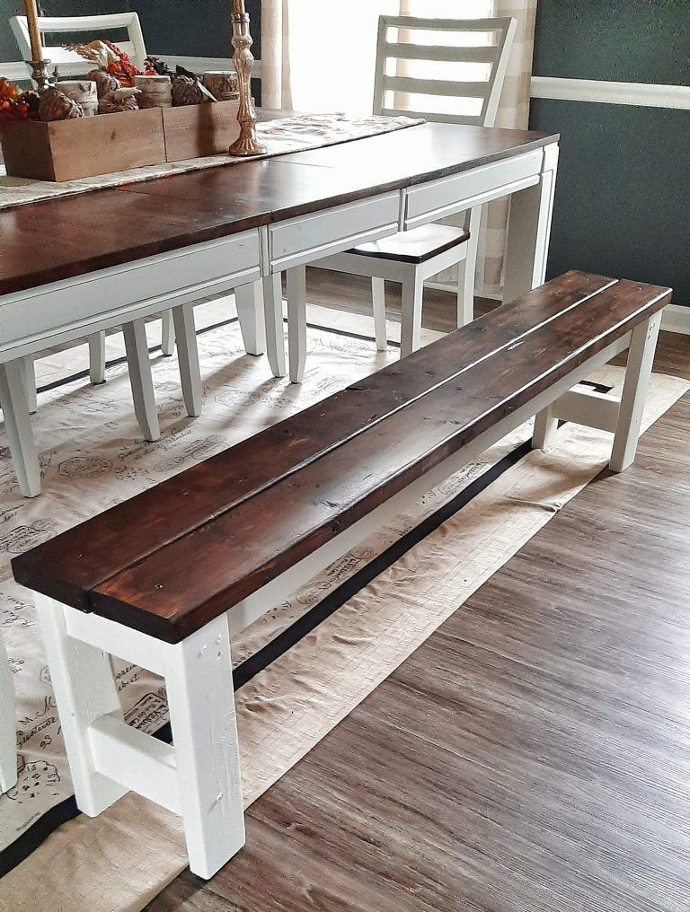 Diy farmhouse bench for dining table the perfectly