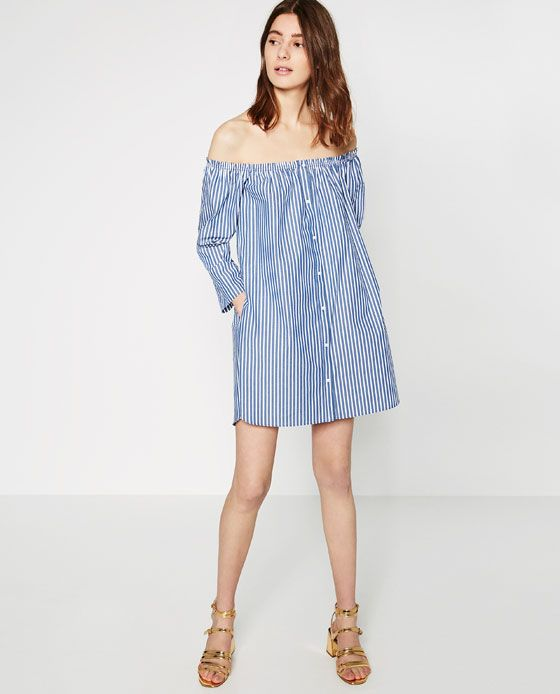15a89e210d887f Image 1 of OFF-THE-SHOULDER DRESS from Zara