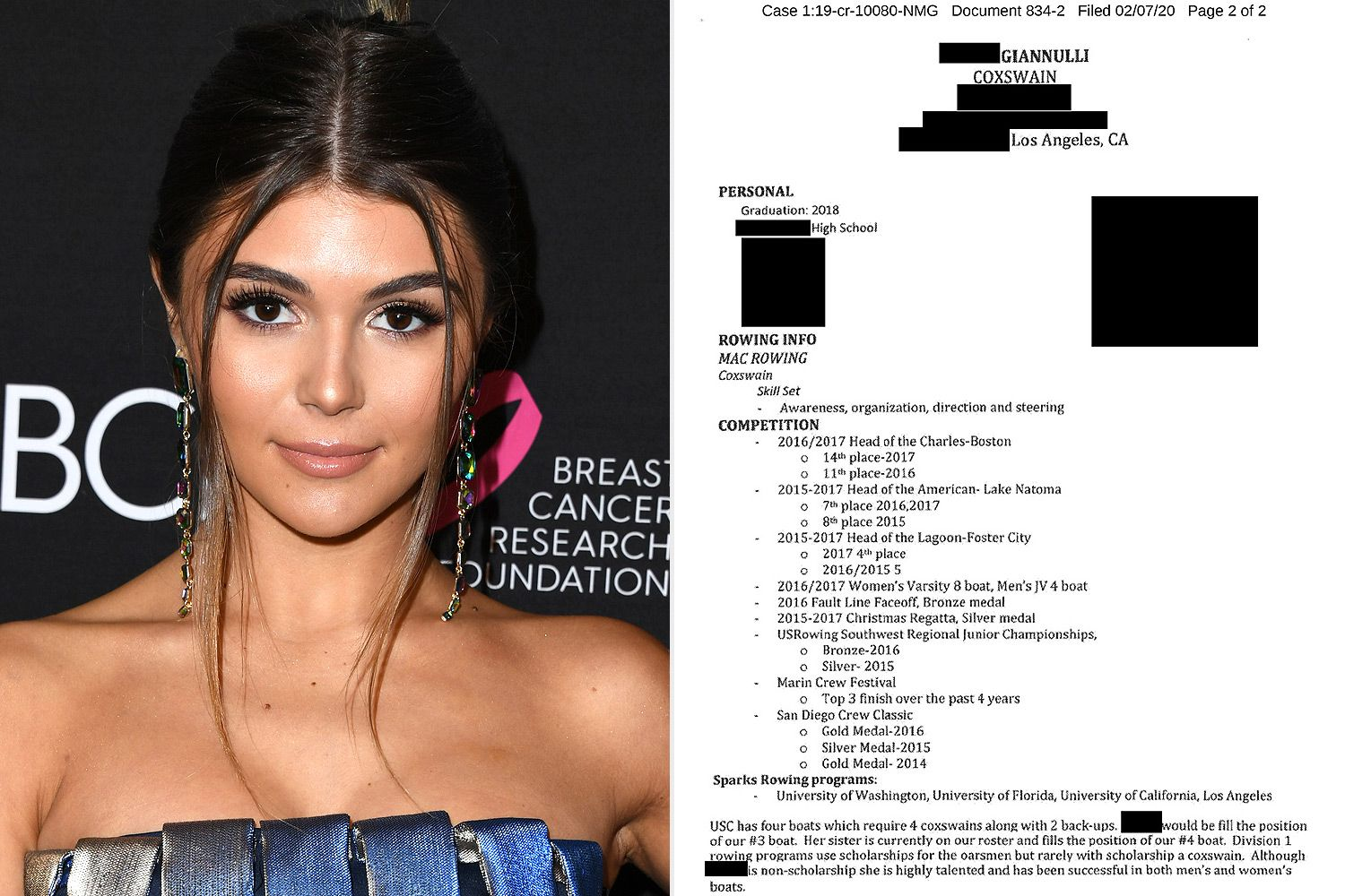 Fake Resume that Appears to Be About Lori Loughlin's