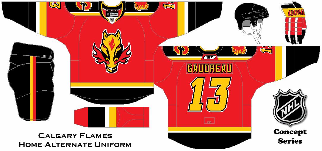 5006d222f Calgary Flames Home Alternate Uniform Concept.