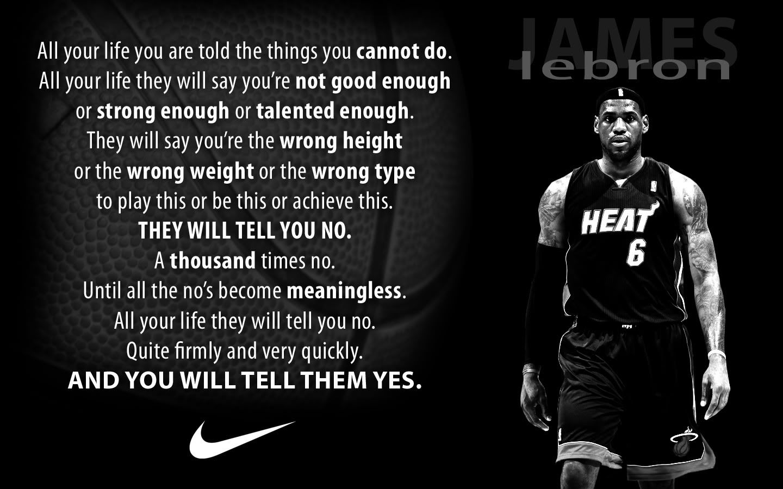 nike sayings Thread Simple LeBron/Nike wallpaper