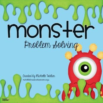 Problem Solving with Monsters FREE Math Center | Freebies ...