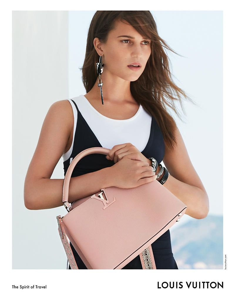 louis vuitton cruise 2017 bags. actress alicia vikander lands her third campaign for louis vuitton cruise 2017 bags