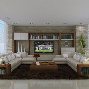 Spacious Fashionable Living Styles - Image 01 : Neutral Exquisite ...