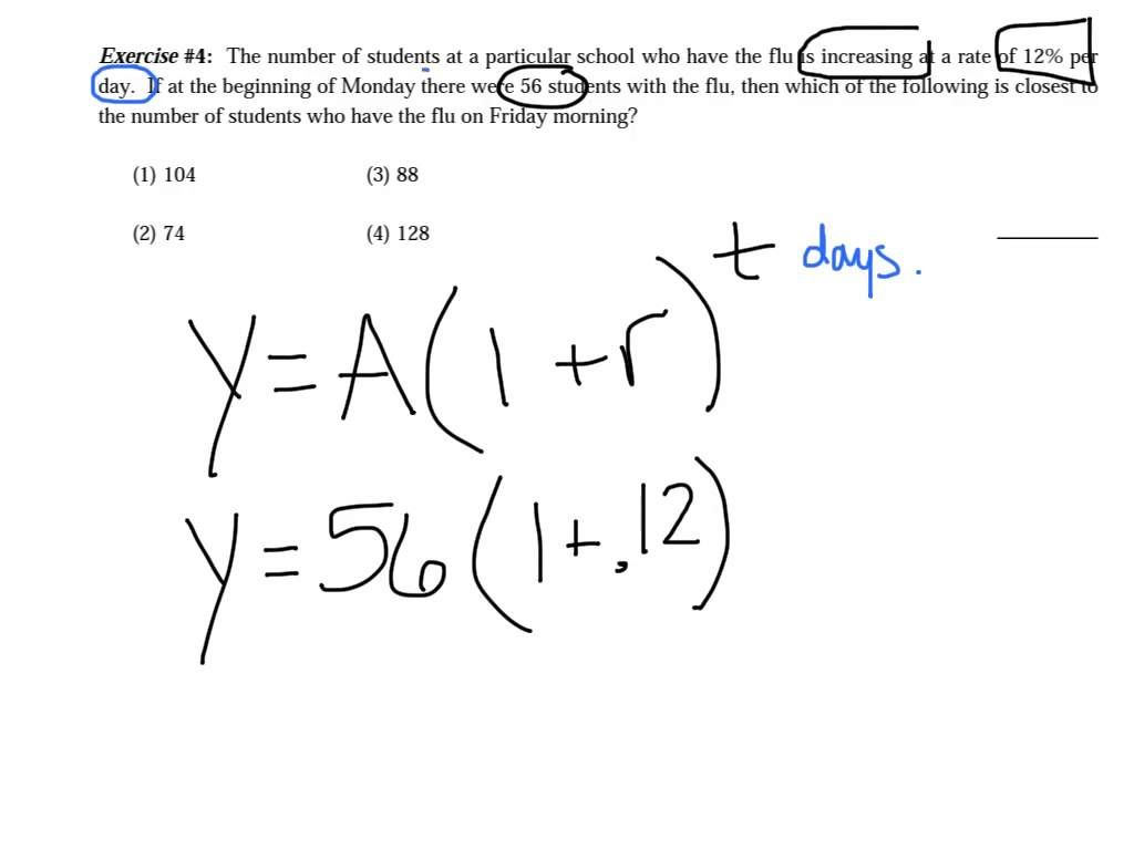 how to find the equation of an exponential function from a table