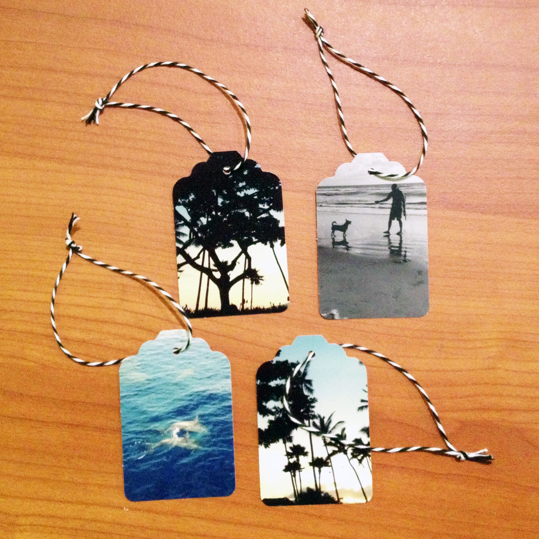 Ooo I have this Punch.. and Instagram! Instagram Photo Prints Hang Tags DIY - Not just for Christmas. Use Instagram photos to create handmade gift tags for holidays and birthdays.