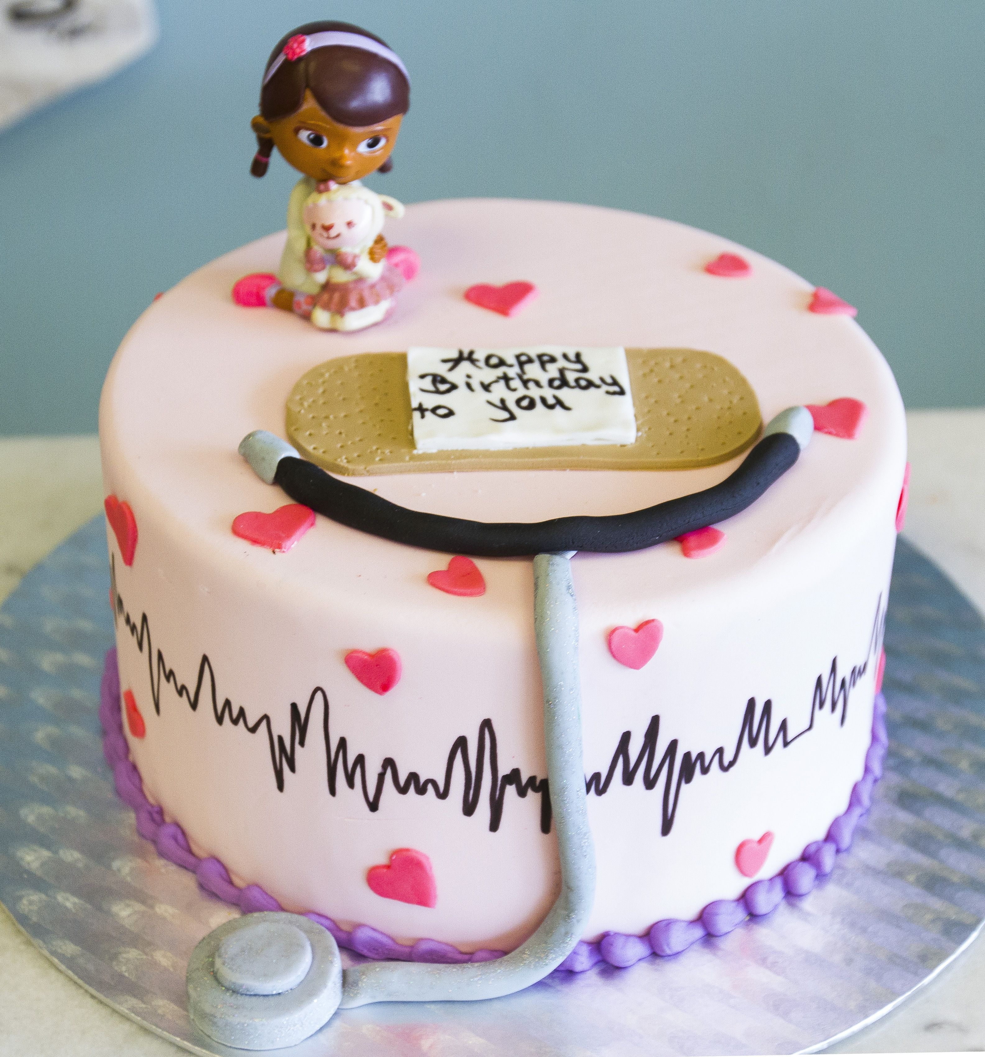 Fine Doc Mcstuffins Cake 162 Doc Mcstuffins Birthday Party Ideas Birthday Cards Printable Nowaargucafe Filternl